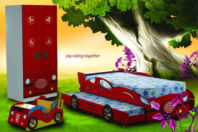 Photography of child's mattress to fit 3' Buzz wagon bed - the guest bed  - mattress size 180 x 75 x 8 cm
