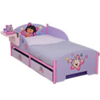Photography of Cot bed or Junior bed  mattress to fit Dora the Explorer Junior Bed with Storage - mattress size is 140 x 70 cm