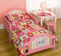 Photography of Cot bed or Junior bed  mattress to fit Peppa Pig Polka Dot Toddler Bed - mattress size is 140 x 70 cm